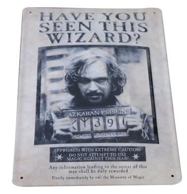 Plaque Metallique 3D Sirius black