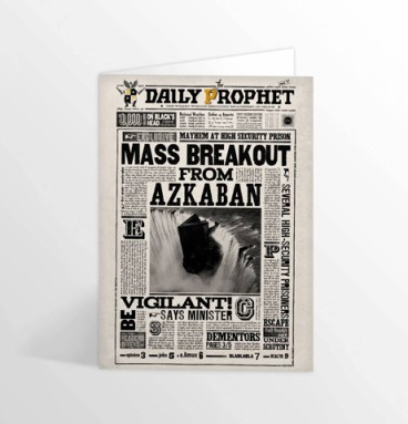Carte de voeux lenticulaire Mass Breakout From Azkaban