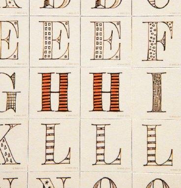 Lot de magnets Alphabetique Harry Potter