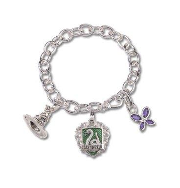 bracelet Charm Lumos Serpentard Plaqué Or