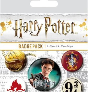 Pack 5 Badges Gryffondor
