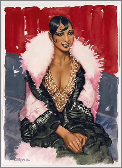 Josephine Baker Watercolor-S