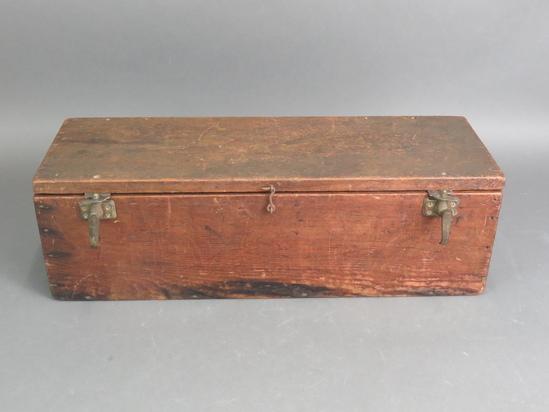 "Antique 26"" Long Handmade Wooden Toolbox Carpenters"