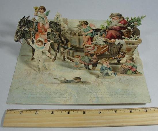 19thC W HAGELBERG Victorian German Die Cut Paper POP UP