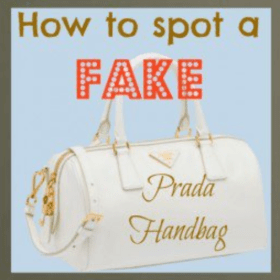 how to distinguish a fake prada handbag