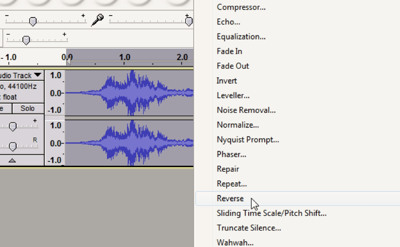 The Process to Recreate Popular Sound Effects by Reversing