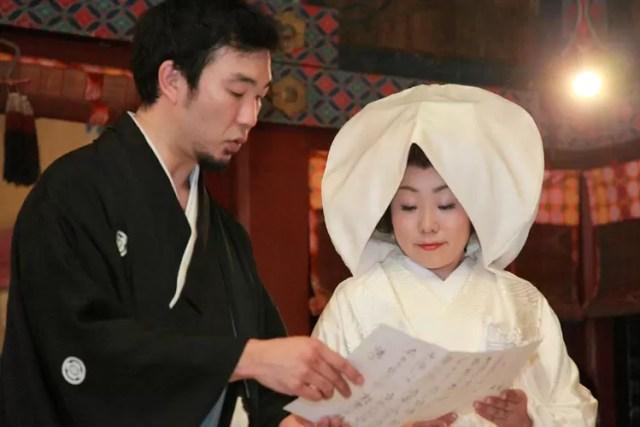 神社結婚式の宣誓の儀式