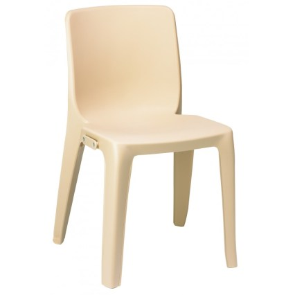 chaise empilable beige denver aude plastique