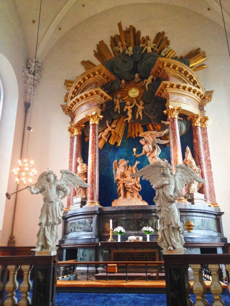 Inside Vor Frelsers Kirke in Copenhagen
