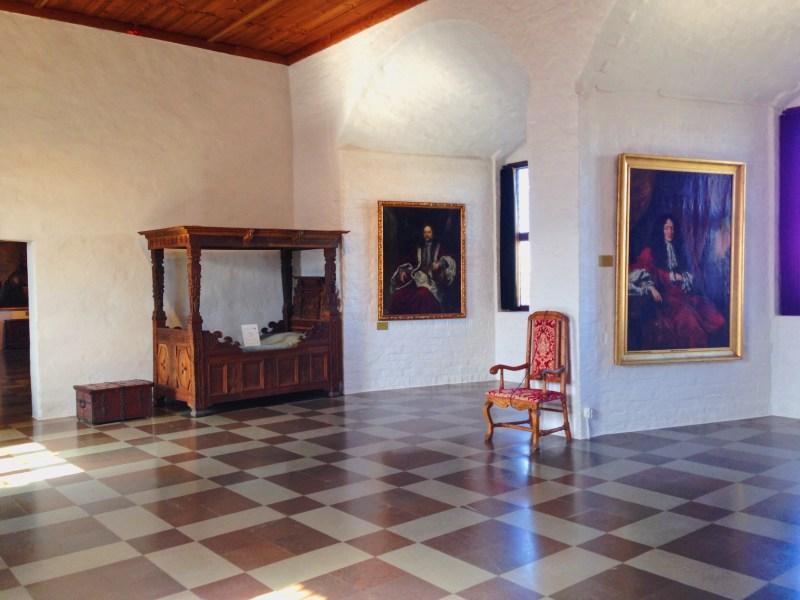 À l'intérieur du château de Malmö