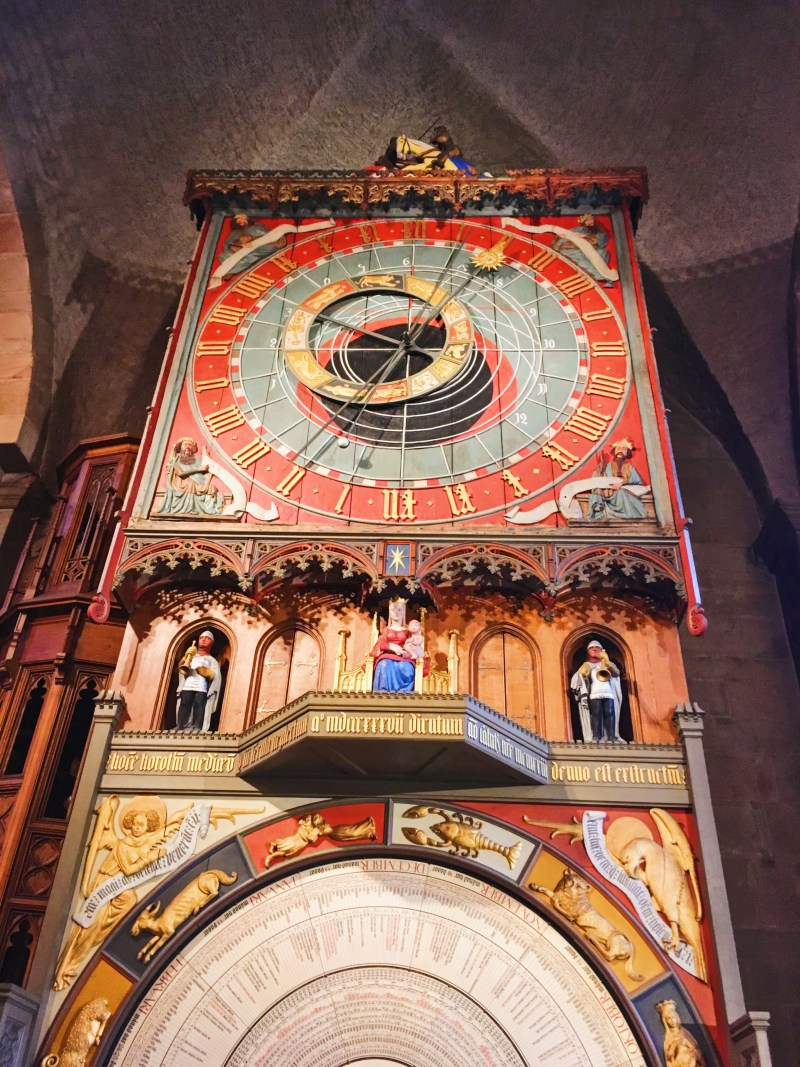 The clock inside Lund Cathedral