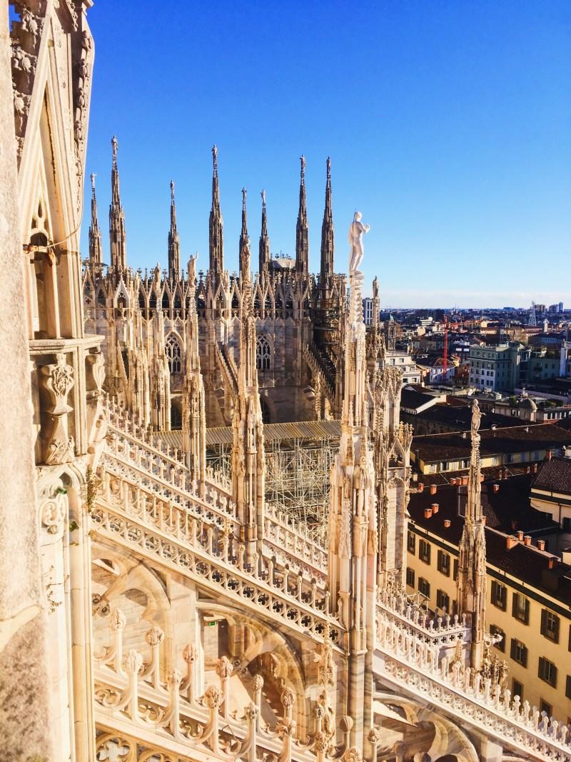 Sur le toit du Duomo