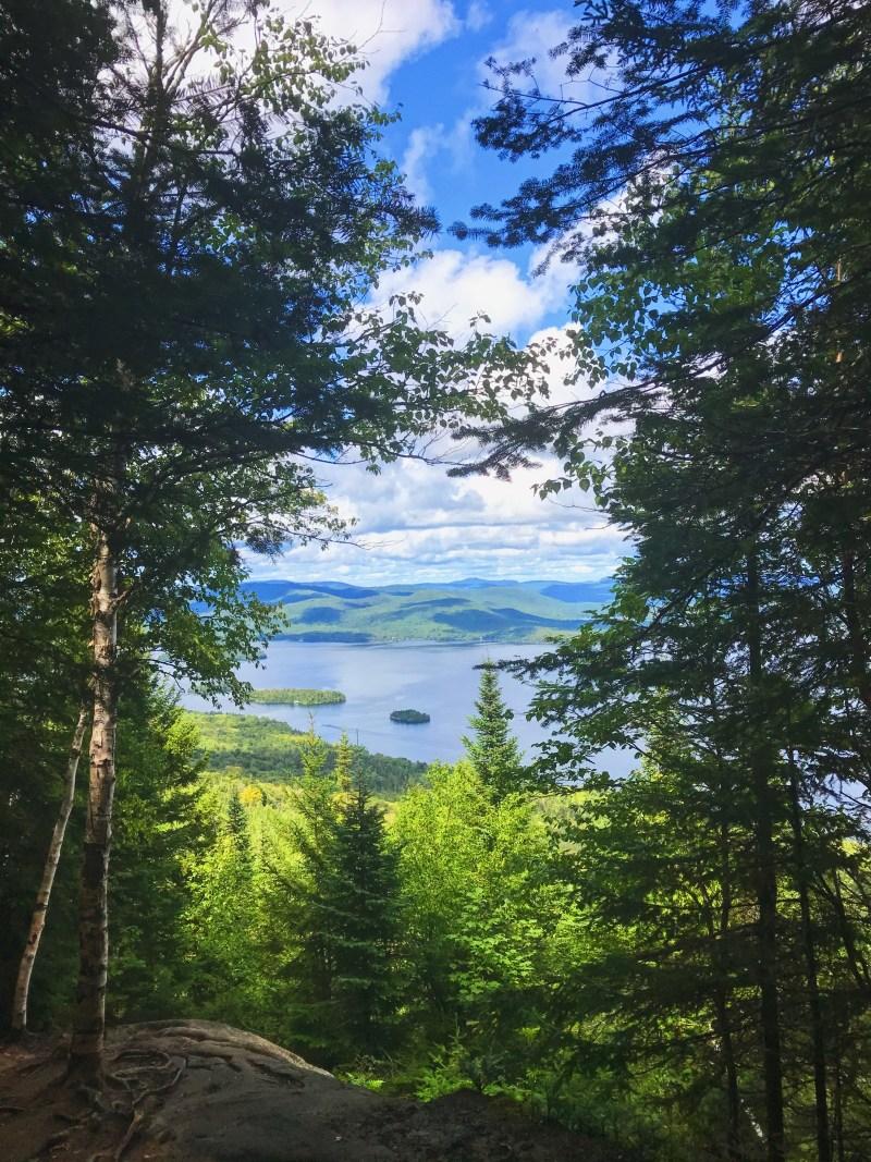 Vue sur le lac Ouareau
