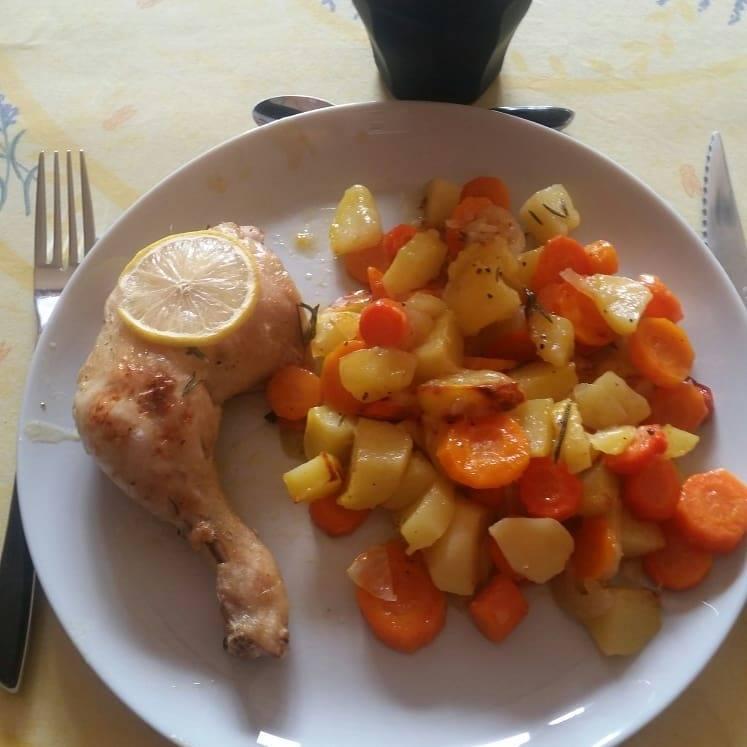 cuisses de poulet citronnées aux légumes