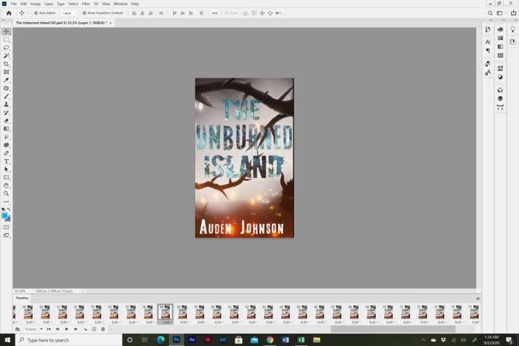 Animated book cover design