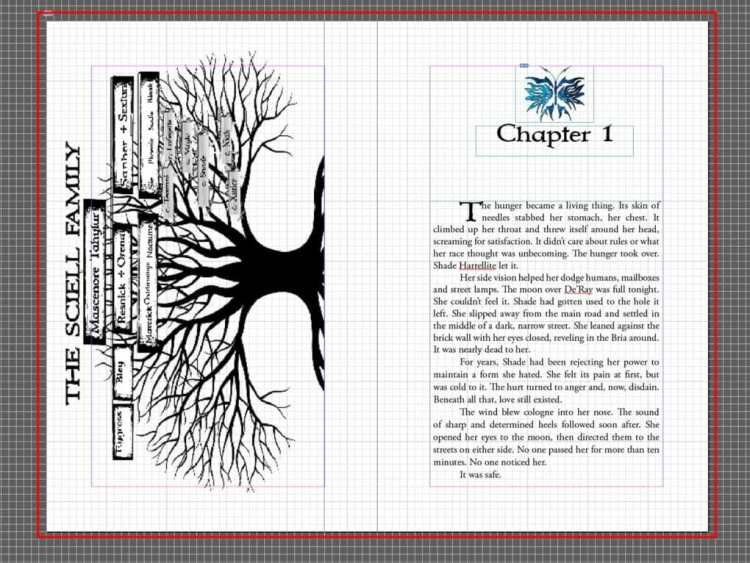 Paperback book formatting bleed area