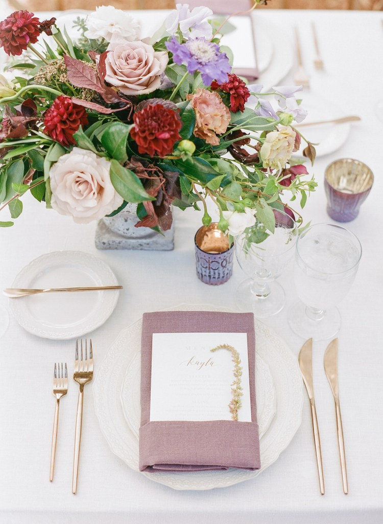 Whimsical Mauve & Blush Wedding