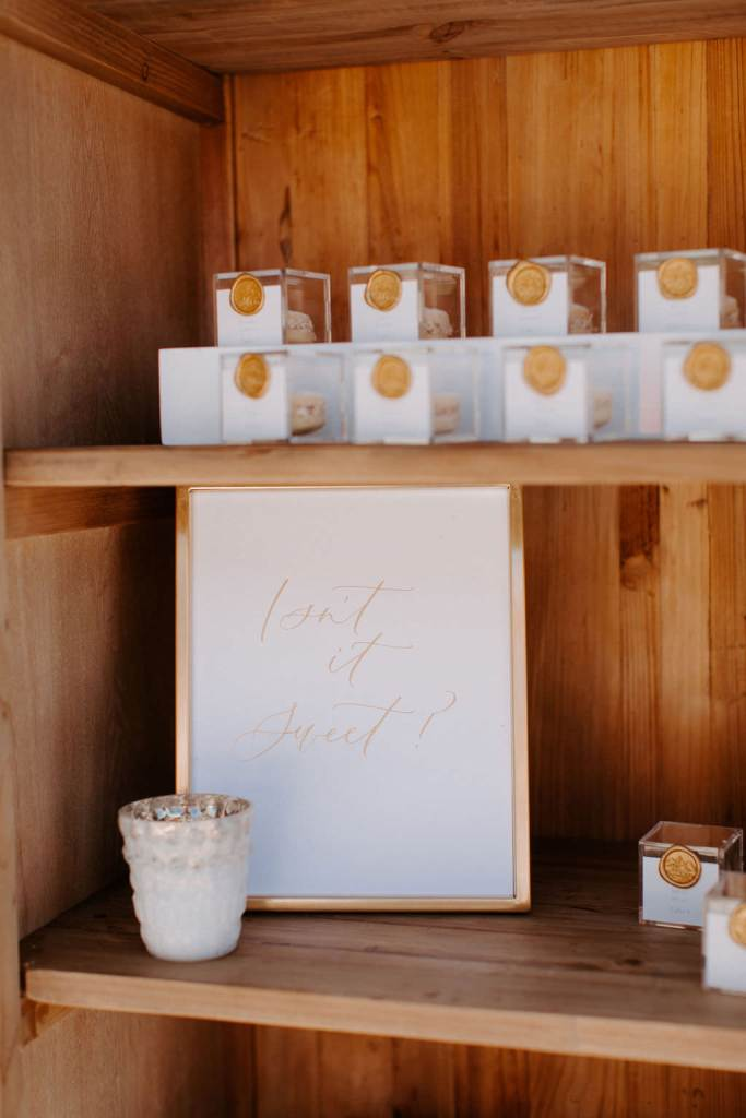 Modern Gold & White Wedding