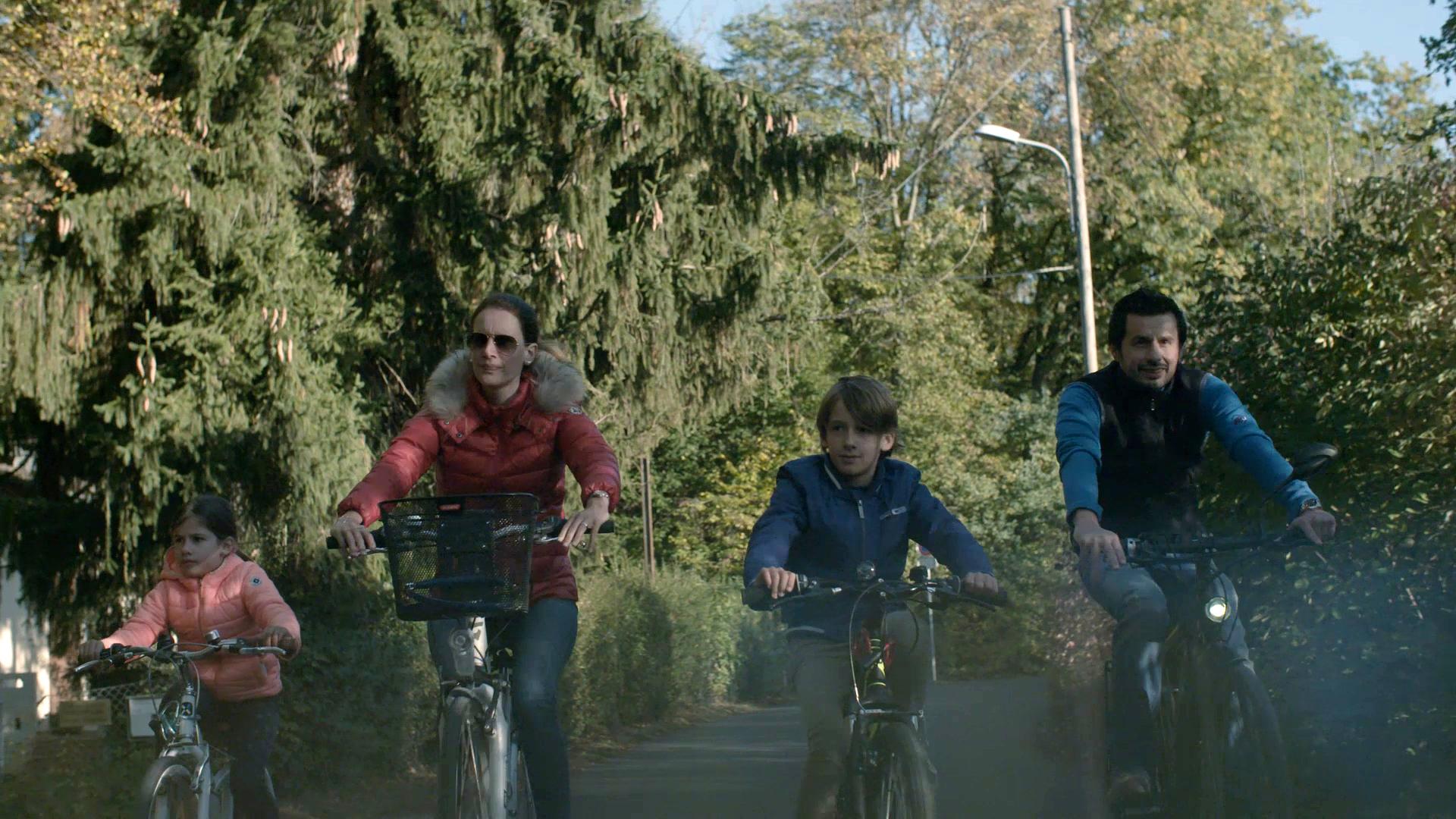 Pour leurs sorties en famille, les Petitpierre préfèrent le vélo.