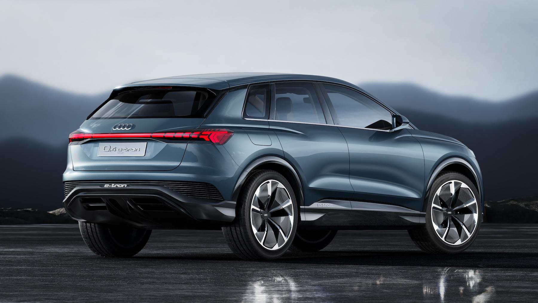 Der Audi Q4 e-tron concept ist der fünfte vollelektrische Audi, der bis Ende 2020 auf dem Markt sein soll. (AUDI)