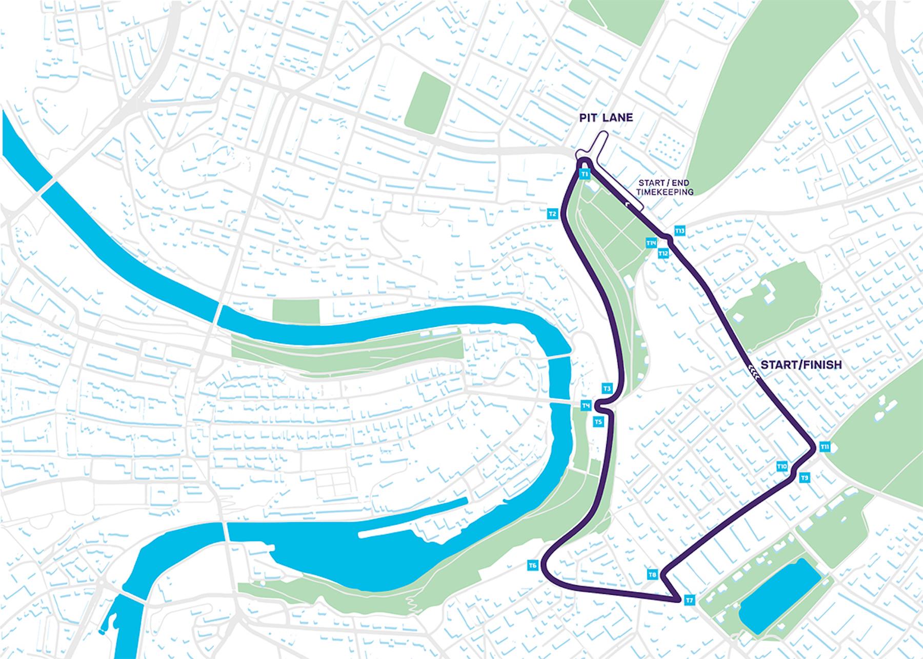 Die Strecke in Bern.