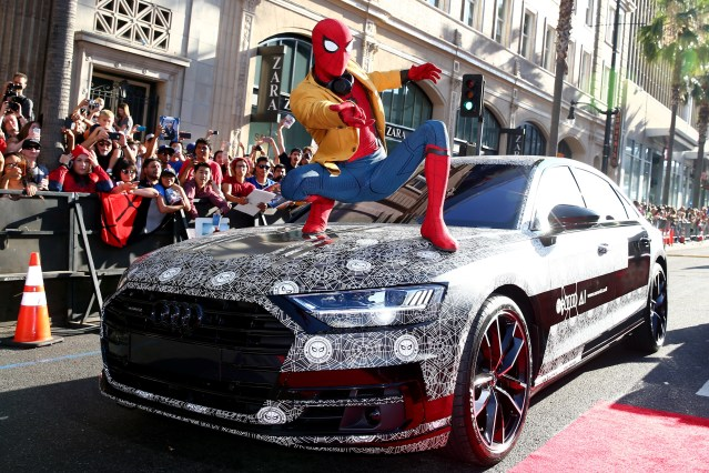 New Audi A8 Appears at 'Spider Man: Homecoming' Premiere
