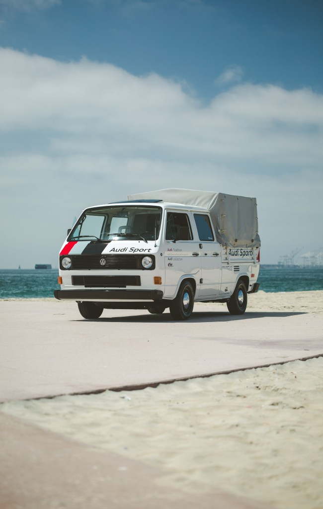 California Dreaming with Audi collection's Vintage Audi Sport Support Truck