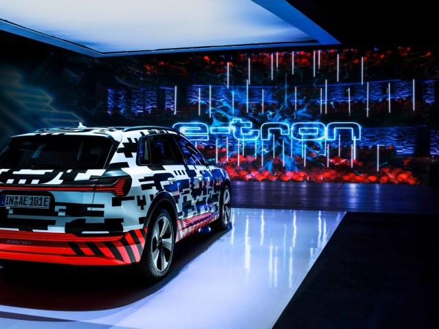 Chill out: Audi e-tron prototype alone on the big stage + Photo Gallery