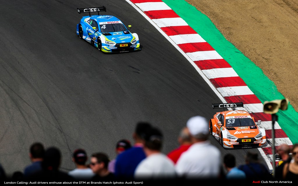 London Calling: Audi Drivers Enthuse About The DTM at Brands Hatch