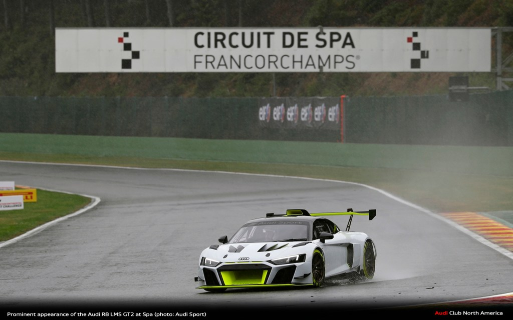 Prominent Appearance of the Audi R8 LMS GT2 at Spa