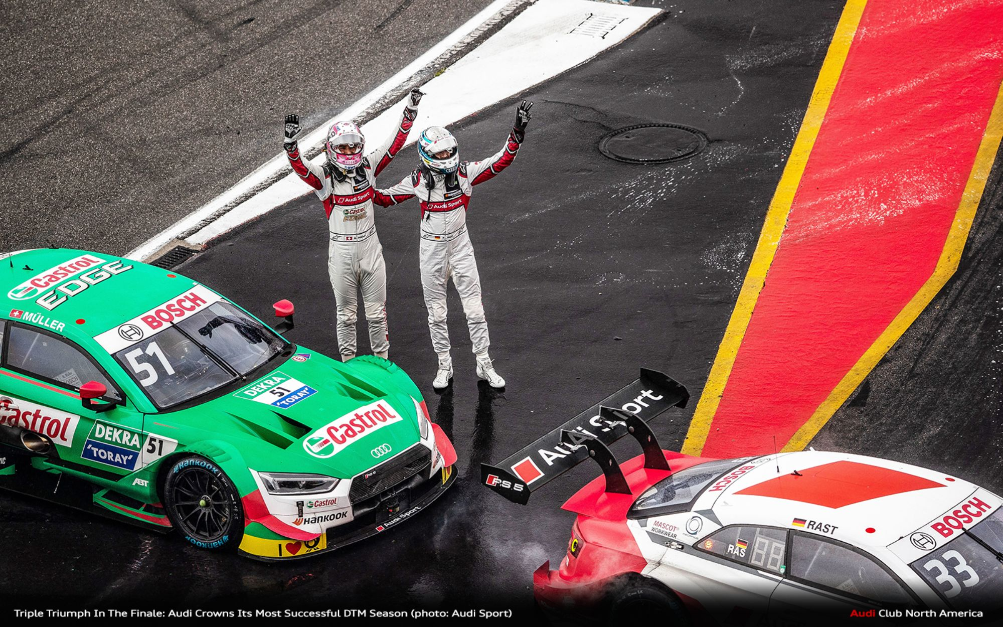 Triple Triumph In The Finale: Audi Crowns Its Most Successful DTM Season