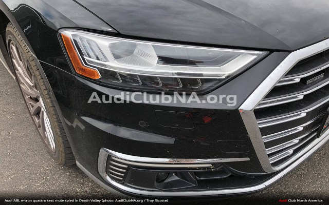 Audi A8L e-tron Spied in Death Valley (Exclusive)
