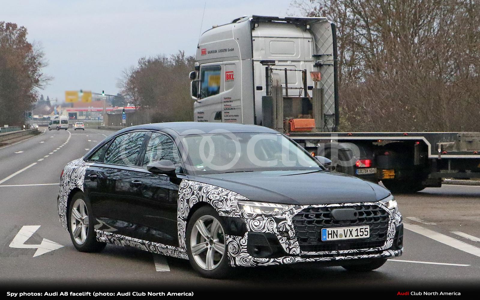 Spy Photo: 2022 Audi A8 Facelift