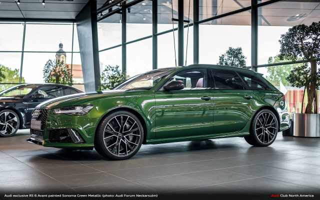 Audi exclusive Sonoma Green RS 6 Avant. You're Welcome.