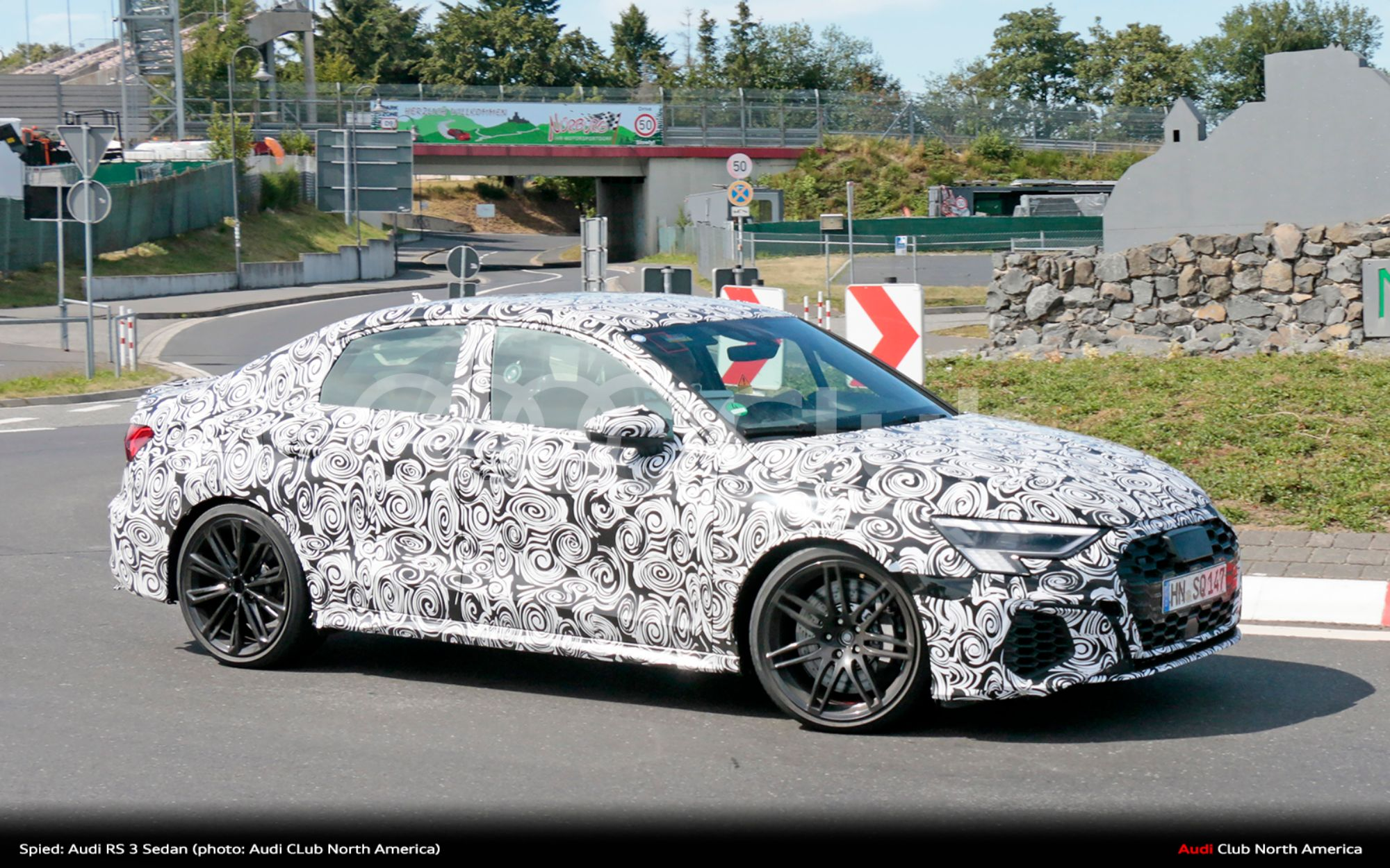 Spied: Audi RS 3 Sedan