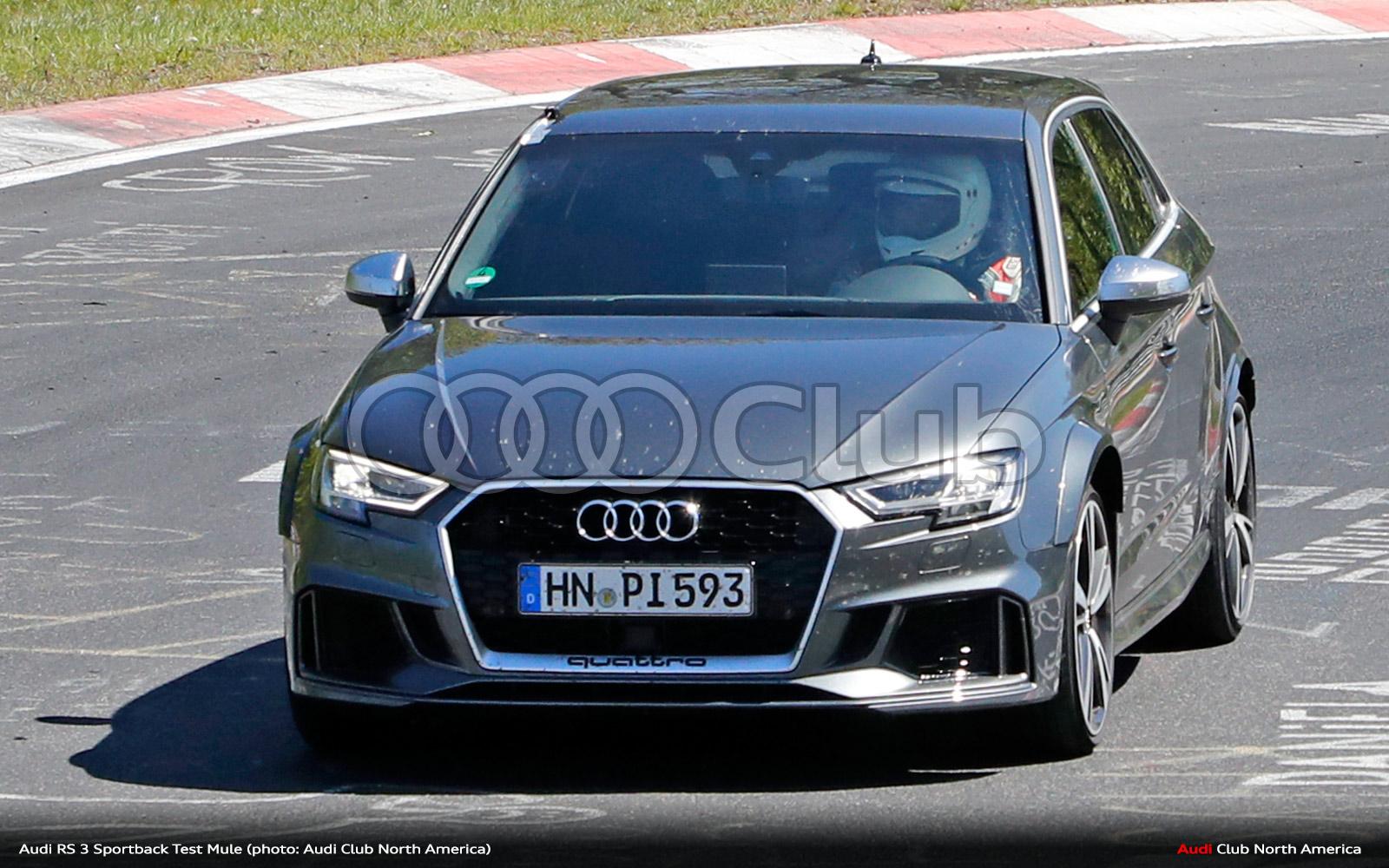 Audi RS 3 Sportback Test Mule Spied