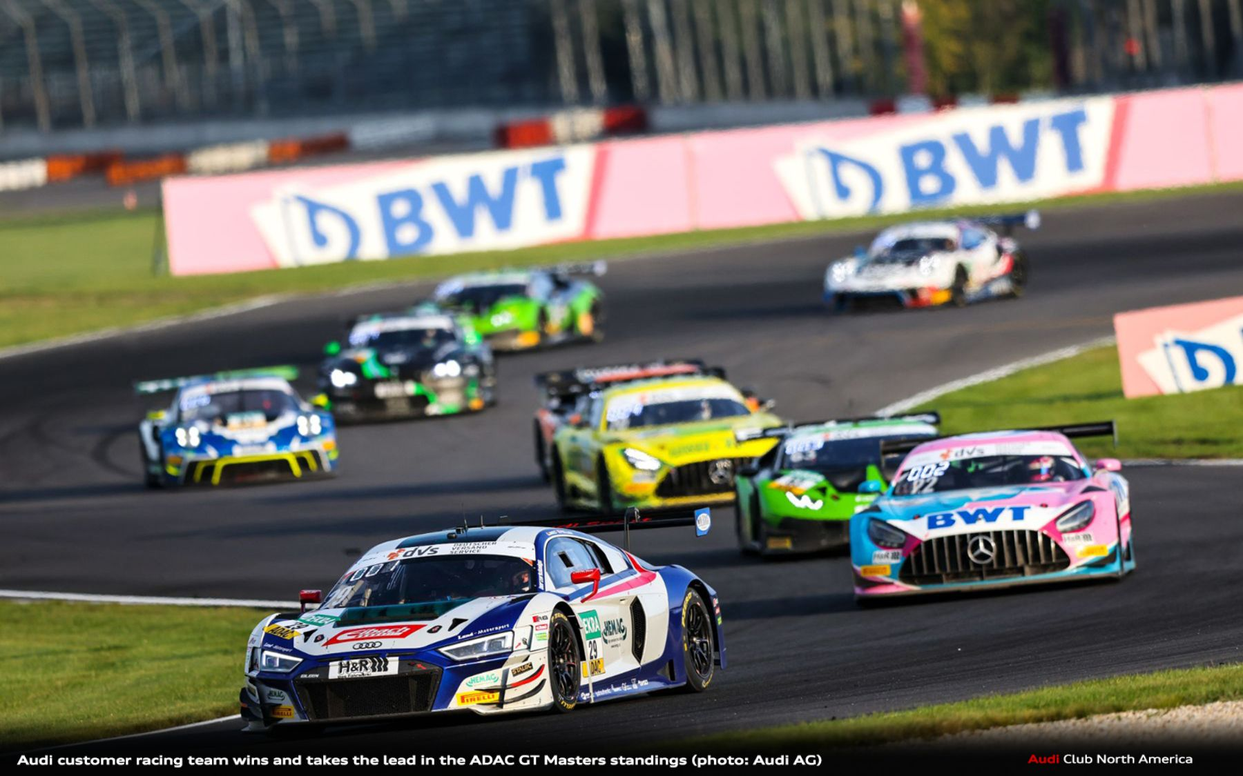 Audi customer racing Team Wins and Takes the Lead in the ADAC GT Masters Standings