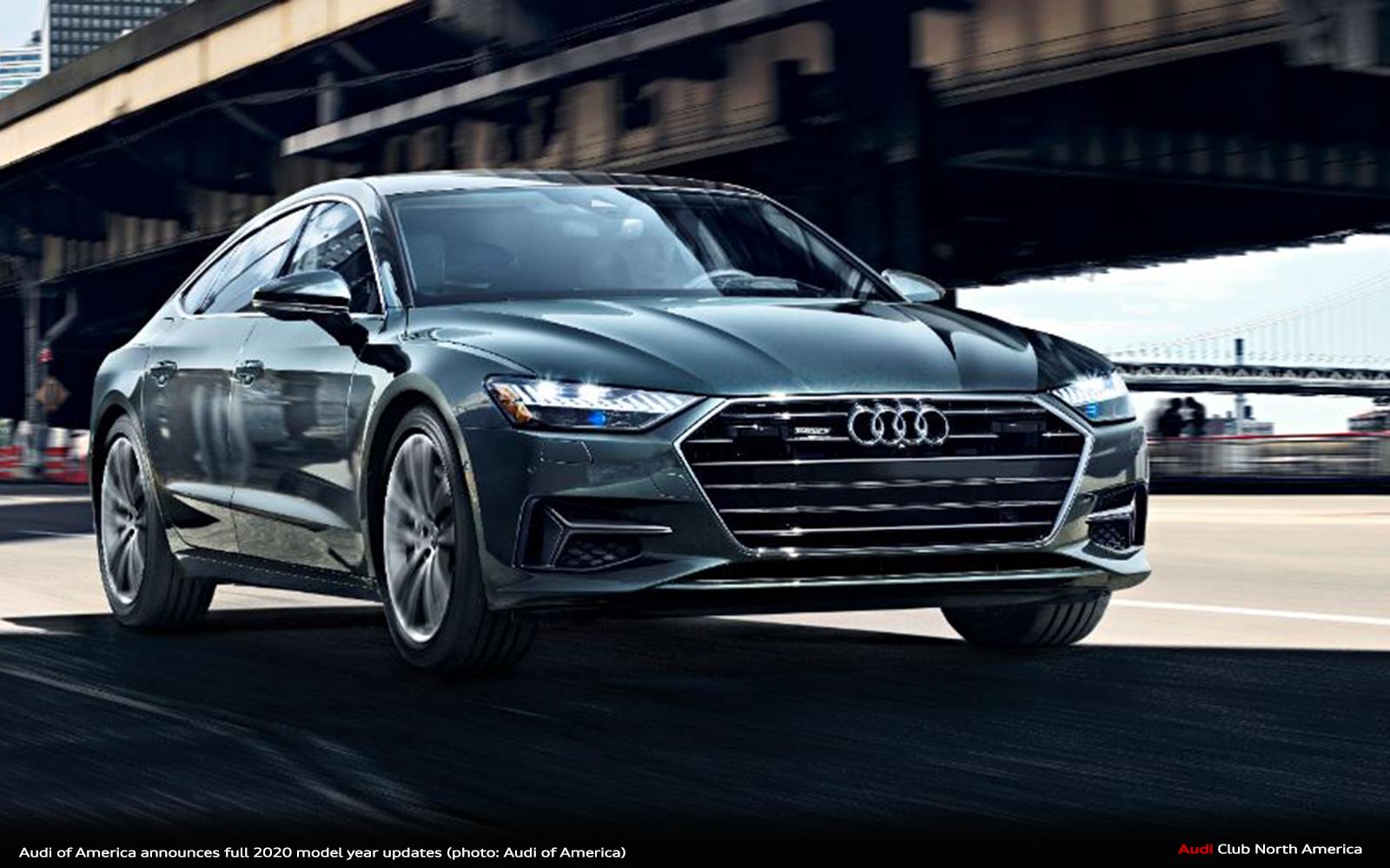 Audi of America Announces Full 2020 Model Year Updates