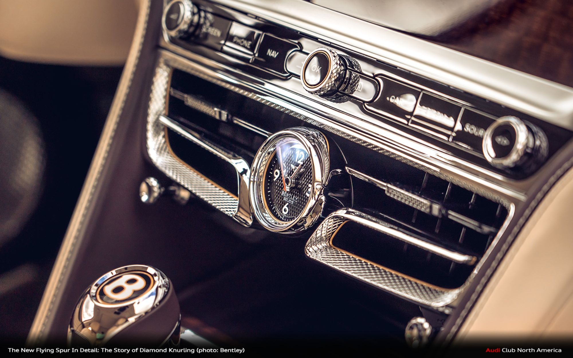 The New Flying Spur In Detail: The Story of Diamond Knurling