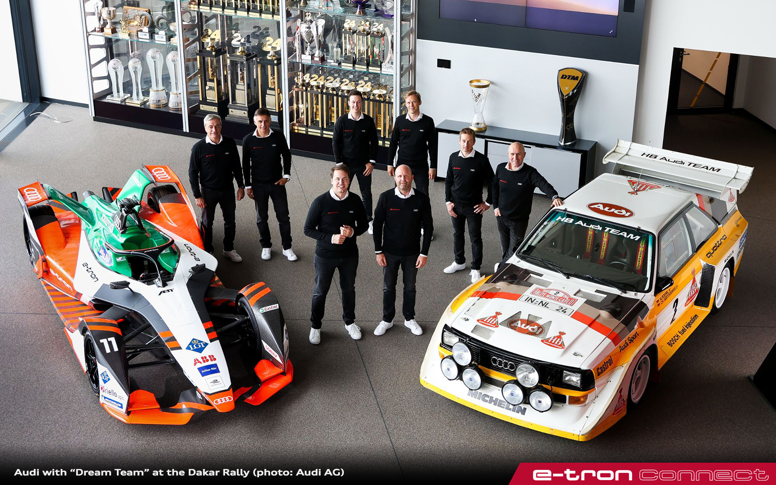 """Audi with """"Dream Team"""" at the Dakar Rally"""