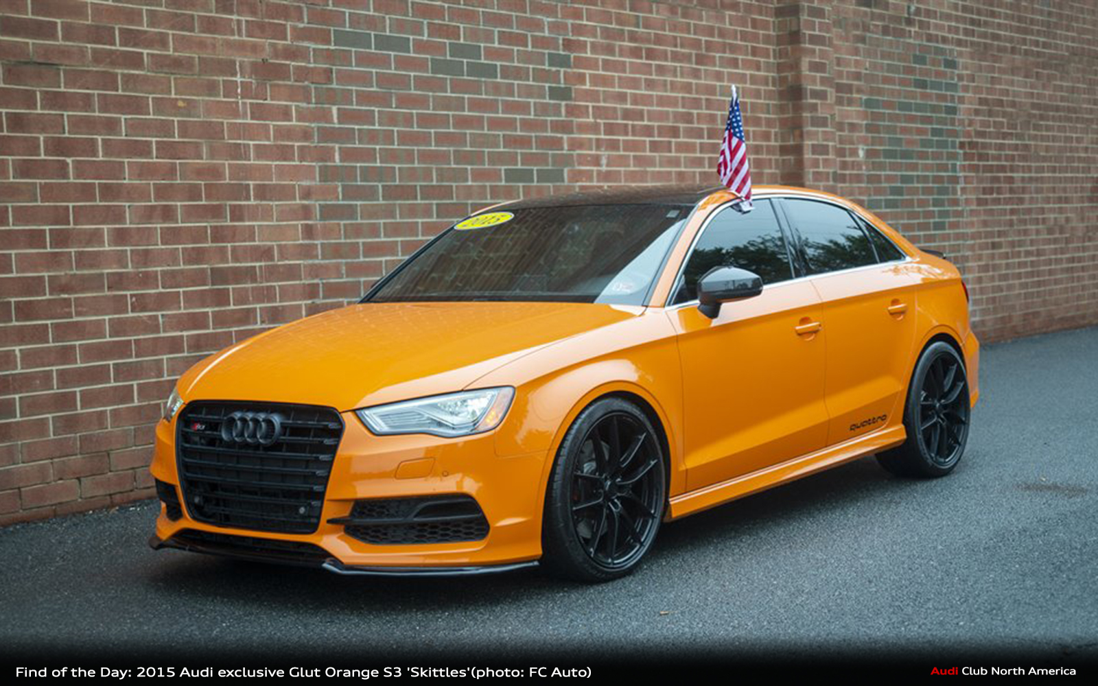 Find of the Day: 2015 Audi exclusive Glut Orange S3 Prestige 'Skittles'