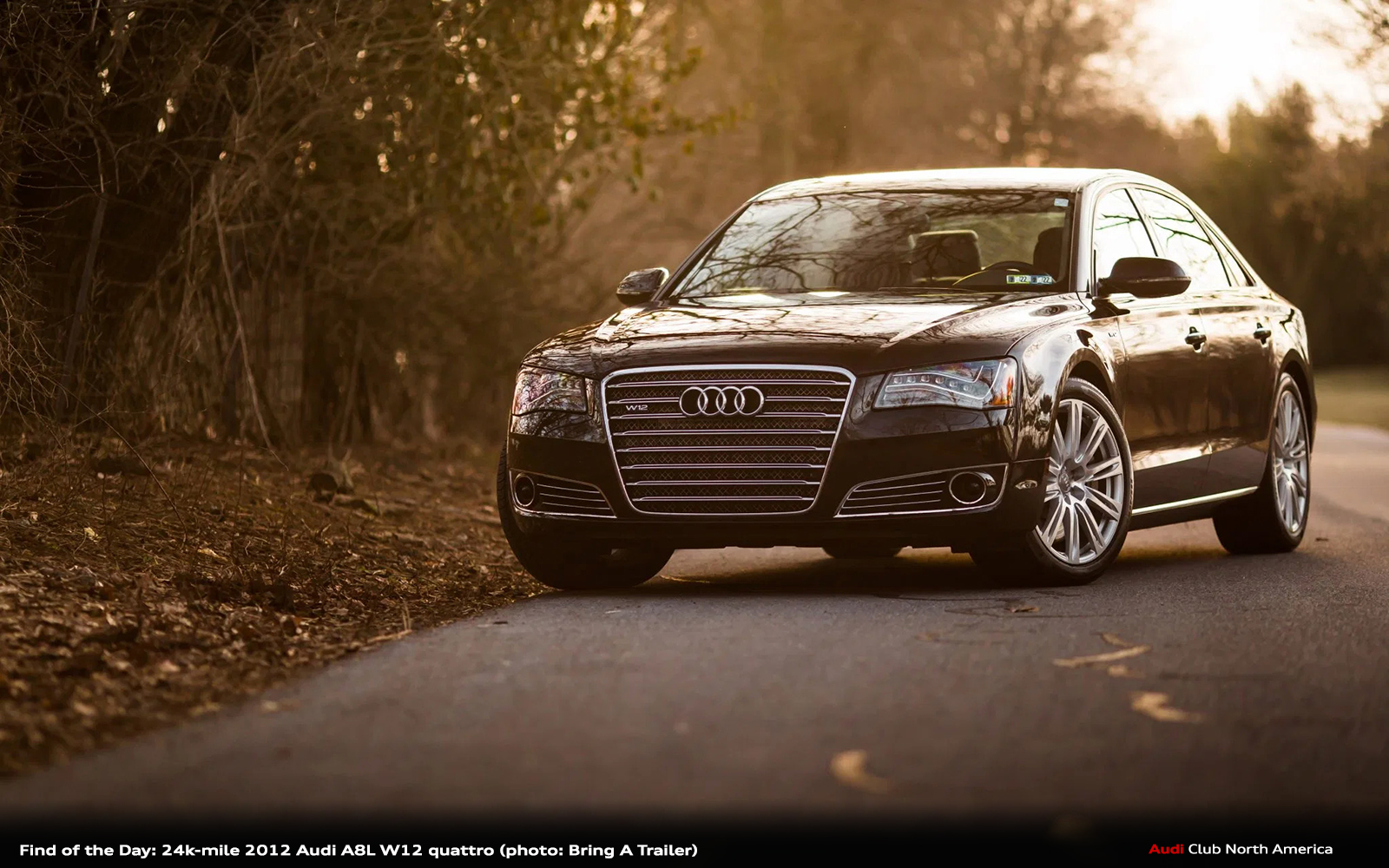 Find of the Day: 24K-Mile 2012 Audi A8L W12