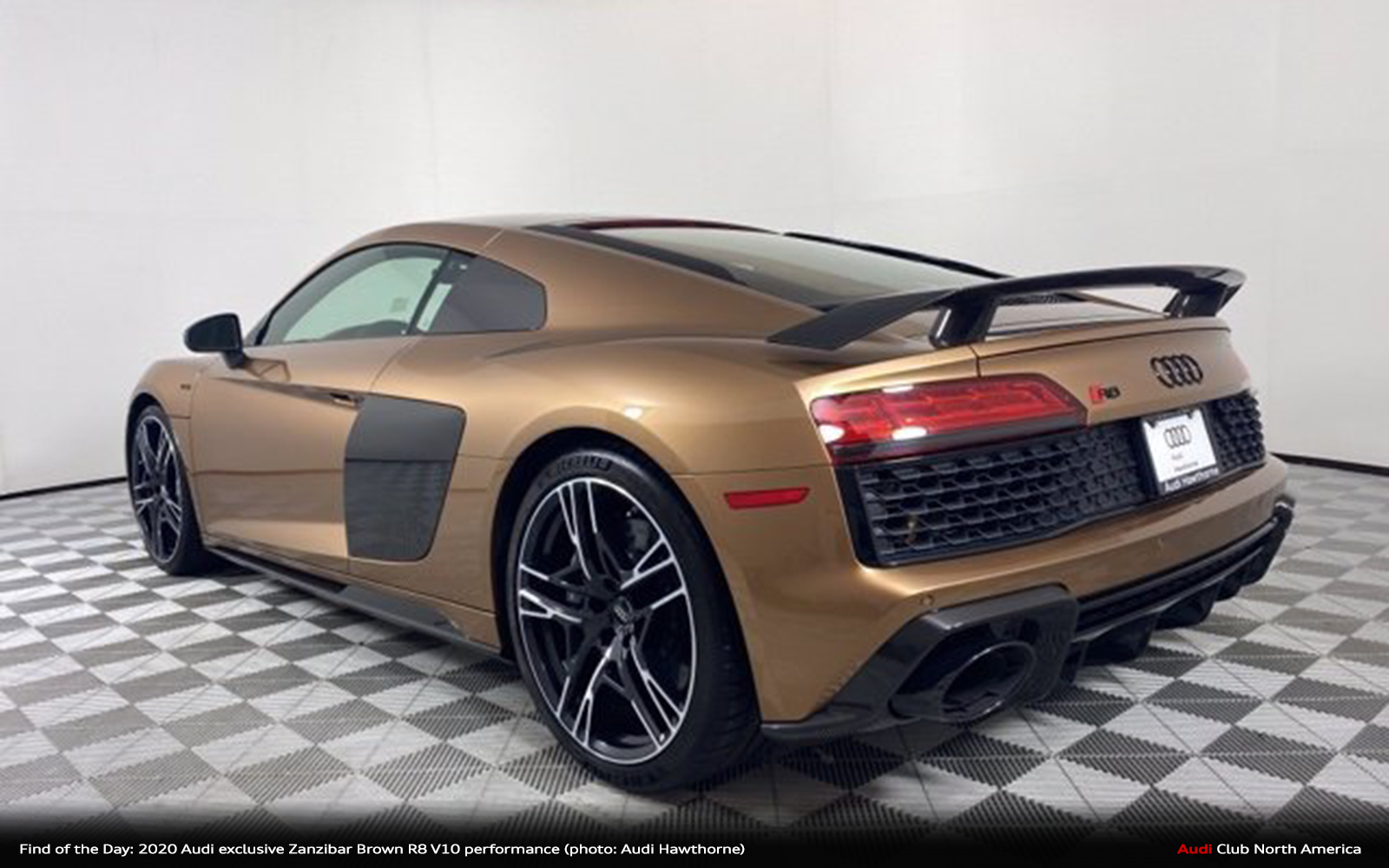 Find of the Day: 2020 Audi exclusive Zanzibar Brown R8 V10 performance
