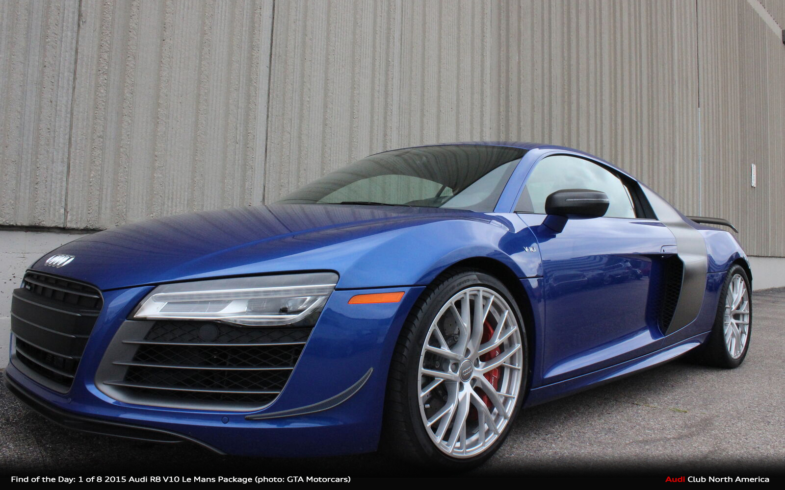 Find of the Day: 1 of 8 2015 Audi R8 V10 Le Mans