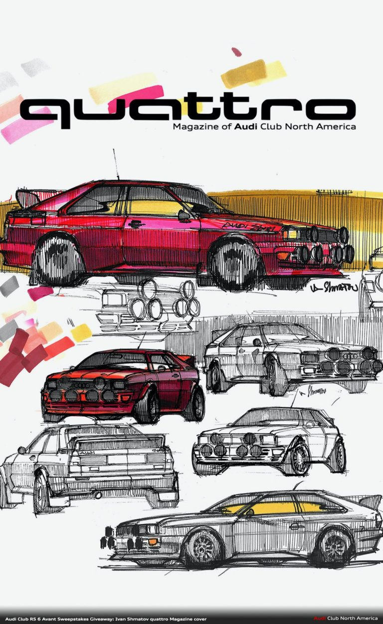 Audi Club Sweepstakes Giveaway: An Ivan Shmatov quattro Canvas...and a quattro Sticker