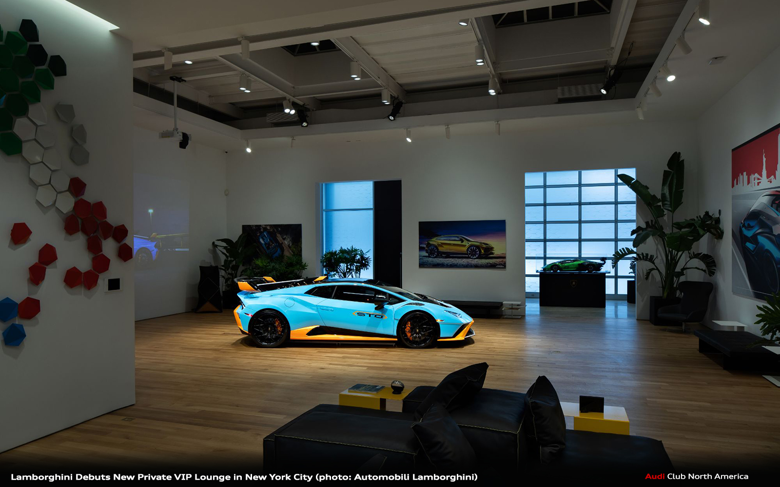 Lamborghini Debuts New Private VIP Lounge in New York City