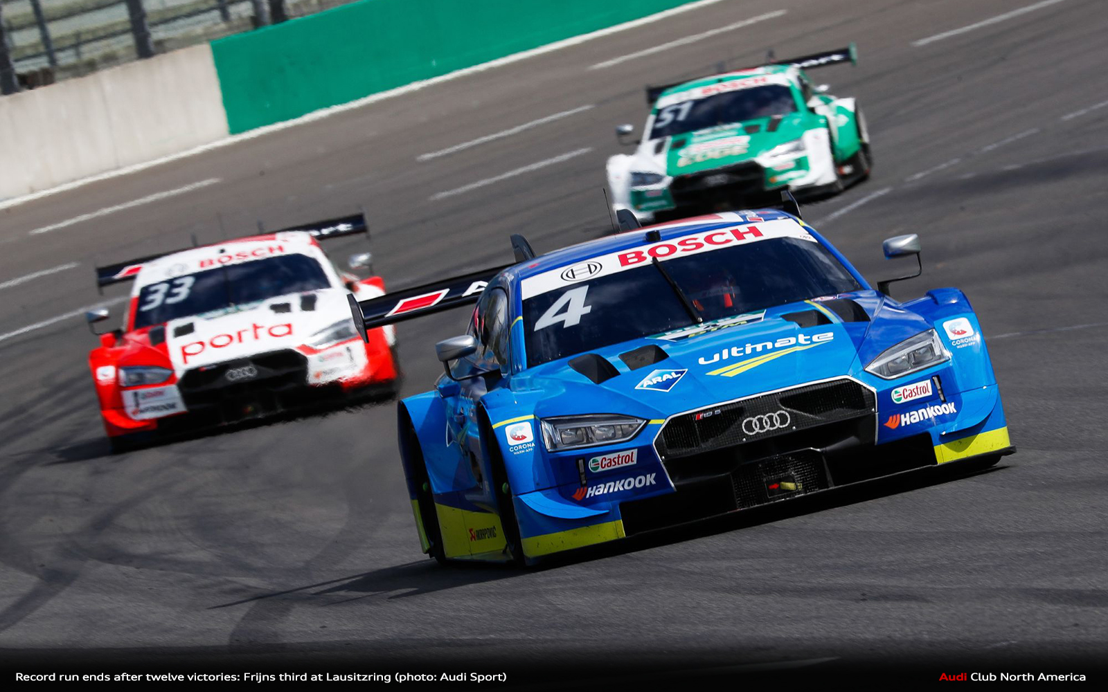 Record Run Ends After Twelve Victories: Frijns Third at Lausitzring