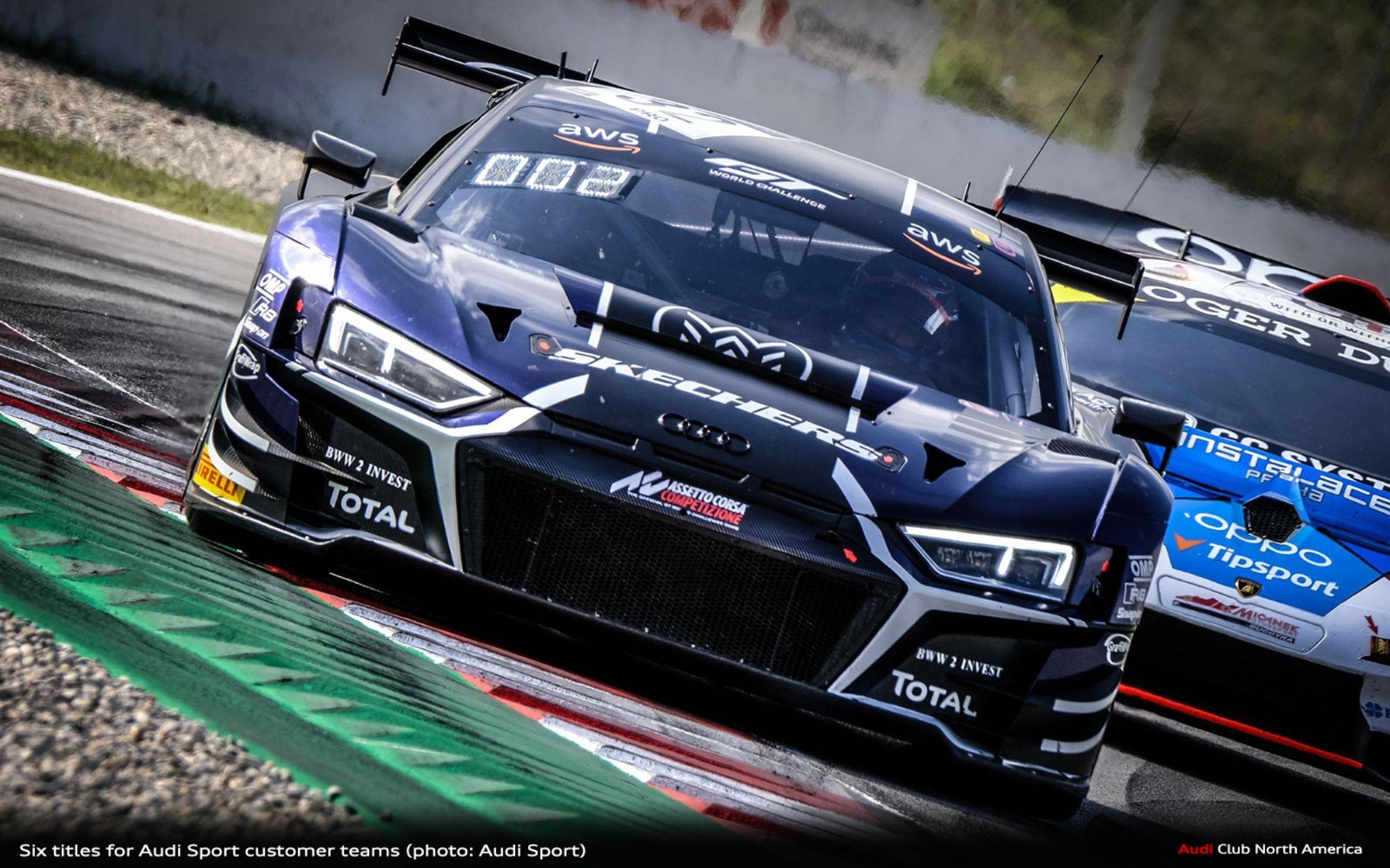 Six titles for Audi Sport customer teams