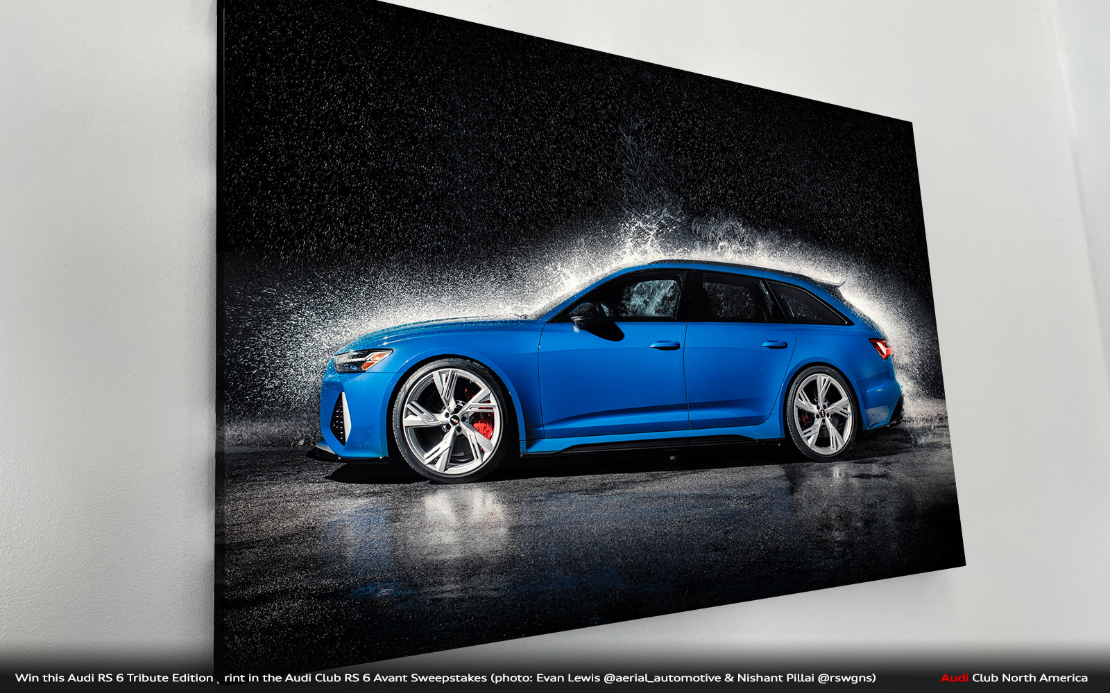 Win This Audi RS 6 RS Tribute edition Print in the Audi Club RS 6 Avant Sweepstakes