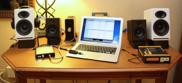 Audioengine D1 D2 Desk at RMAF